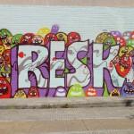Athens Street Art Festival - Έργο των RESK επί της Π.Ράλλη